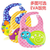 Waterproof Baby Boy And Girl Cute Character Bibs Cartoon EVA Dinner Burp Cloths