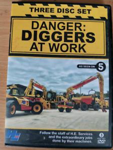 Danger: Diggers At Work DVD 3 disc set