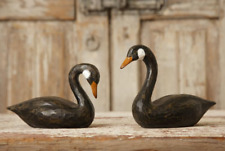 Black Swan Geese Birds Pair Rustic Country Farmhouse Decor ~ New