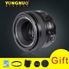 Yongnuo 50mm F1.8 Standard Prime Lens Auto Manual Focus AF MF for Nikon + 5 Gift