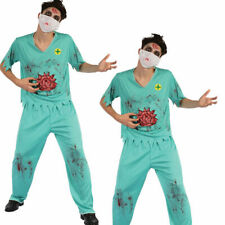 Bloody Surgeons Adults Fancy Dress Halloween Medical Undead Zombie Costumes