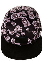 Entree 5 Panel Hat - Strapback - Black - The Logos - New - Free Fast Shipping