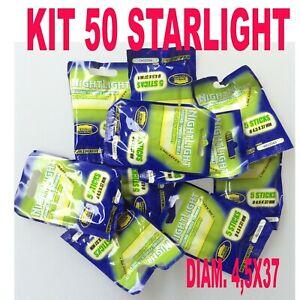 STARLIGHT KIT 50 PEZZI PESCA GALLEGGIANTE STARLITE DIAMETRO 4,5 MARE LUCI