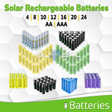 Solar Batteries Aa Aaa Rechargeable Battery Pack 4 8 10 12 20 NiCd mAh lot NiMh