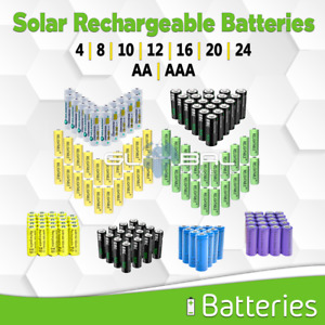 Solar Batteries AA / AAA Rechargeable Battery Pack 4 8 20 mAh lot NiMH / NiCD