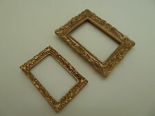 Dolls House Miniature 1:12th Scale Lounge Library Accessory 2 x Picture Frames
