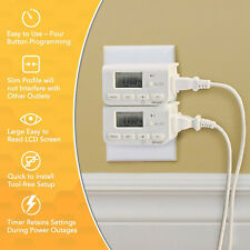 Programmable 2Pack Timer DIGITAL Clock Switch Power Saver hour 7/24 light outlet