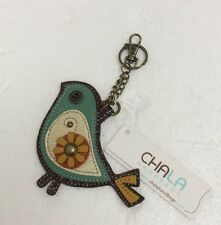 Chala Teal Bird Key Chain Charm FOB Ring Coin Purse New