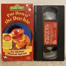 SESAME STREET PUT DOWN THE DUCKIE VHS Tape Red Label VERY RARE Ernie Big Bird