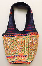 Hmong Hill Tribe Embroidered Yellow Handbag