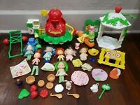 Vintage Strawberry Shortcake Dolls and House Furniture Lot