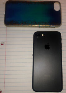 Apple IPhone 7 (A1660) 128GB Black Pre Owned/Used READ DESCRIPTION case Included