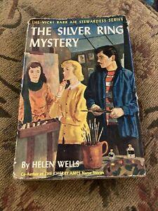Vicki Barr Series - Silver Ring Mystery by Helen Wells - HC DJ 1st