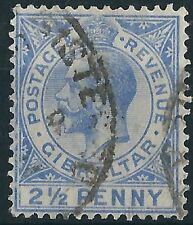 n272) Gibraltar.1921/27. MM. SG 94,2 1/2d Bright blue. Royalty. c£60+