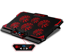 17inch Gaming Laptop Cooling Pad Six Fan Led Screen Cooler Stand Notebook Mat PC