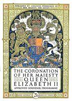 QUEEN ELIZABETH - CORONATION - 2nd JUNE 1953 SOUVENIR PROGRAMME - SCARCE & FINE+