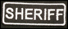 SHERIFF Iron-On Patch/Badge for Police Deputy Officer T-Shirt Hat Cap 25P