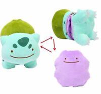 5'' Pokemon Bulbasaur Ditto Metamon Inside-Out Cushion Plush Bag Purse UK Stock