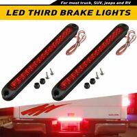 "2X 10"" Truck Trailer Stop Turn Tail Light Bar Led Third Brake Lights Strip Red"
