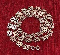 "Vintage 925 Sterling Silver Square Celtic Knot 18.5"" ~ 47cm Necklace (D2U)"