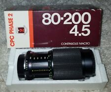 CPC PHASE 2 CCT 80-200mm F/4.5 MC auto Zoom Lens for Minolta MD