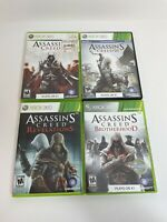 USED Assassins Creed Collection 2 & 3 Brotherhood, Revelations Xbox 360 Lot of 4