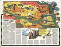1939 NEBRASKA state pictorial map history folklore whimsical POSTER Aitchison