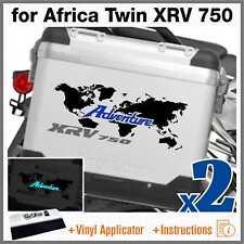 2x Adesivi Nero Blu Grigio compatibile con Honda Africa Twin XRV 750 ADVENTURE