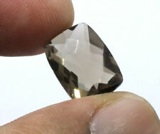 Natural Smoky Quartz Gemstone  Checker Cushion Cut 13.00ct