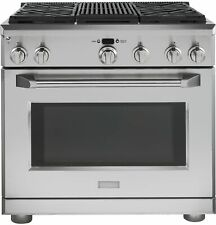 """New listing Ge Monogram 36"""" Dual Fuel Professional Range with 4 Burners & Grill-Brand New!"""
