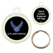 AIR FORCE LOGO - CUSTOMIZED - PET TAG - CIRCLE SHAPE - TAG-Z DOG TAGS