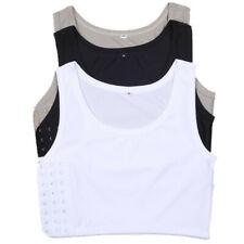 Womens Short Chest Breast Breathable Buckle Binder Crop Vest Tank Tops Lesbian