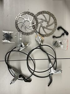 Hayes HFX Mag Carbon Ti Brake Set With Rotors, Adaptors & Parts.