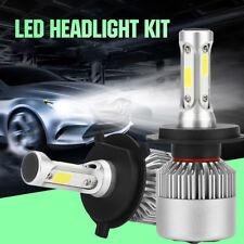 2x H4 9003 72W 8000LM 6500K COB LED Headlight Super White Xenon Conversion Kits