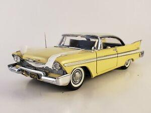 "Danbury Mint 1958 Plymouth Belvedere Hard Top  ""SUNFLOWER YELLOW"" 1:24  ""READ"""