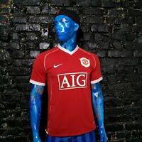 Manchester United Jersey Home football shirt 2006 - 2007 Red Nike Mens Size M