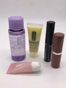 New 5 Piece Clinique Set - Make Up Remover, Lipstick, Mascara, Moisturizer