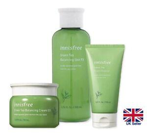 INNISFREE Green Tea Balancing & Hydrating Skincare Set: Cleanser Cream Toner UK