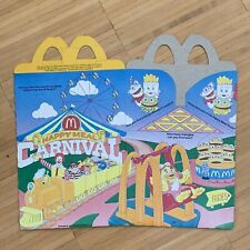 McDonalds Happy Meal Box 1990 Carnival Fast Food Collector