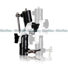 3-Section Flash Shoe Swivel Umbrella Holder Light Stand 2-Adapter Bracket U-Type