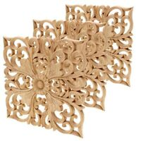 1X(Wooden Decal Supply European-Style Applique Real Wood Carving Accessorie7R3)