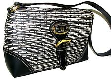 ETIENNE AIGNER Black Straw handbag purse clutch shoulder bag NWT
