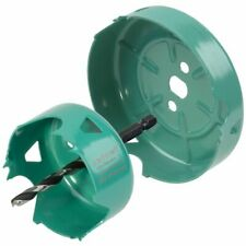 wolfcraft 2 Piece Hole Saw Set Carbon Steel Turquoise Drill Accessory 5974000
