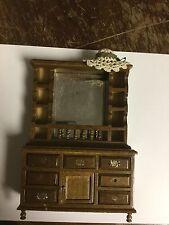 Dollhouse Miniature Wooden Cabinet