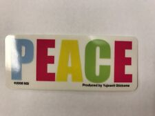 """New Colorful """"Peace"""" Small Sticker / Decal"""