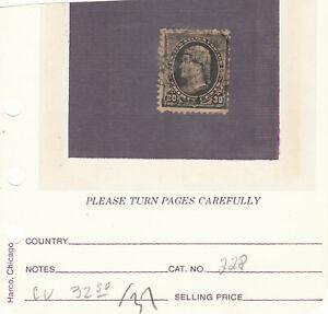 U.S. Stamps.  Scott #228 (Used). (see below) --
