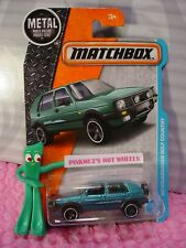'90 VOLKSWAGEN GOLF COUNTRY #4☆Teal VW; 5sp☆Adventure City☆2017 MATCHBOX