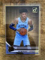 JA MORANT *2019-20 Clearly Donruss Rated Rookie RC Gold Parallel Grizzlies