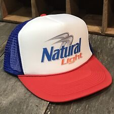 Natural Light Beer 80 s 90 s Vintage Trucker Hat Snapback Beach Party Cap  RWB a00c329cefe0
