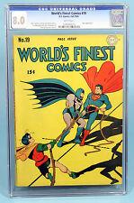 WORLD'S FINEST COMICS#19 CGC 8.0 Dick Sprang Art, JOKER Appearance WHITE PAGES